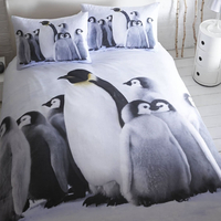 Penguin Double Duvet in 100% Brushed Cotton