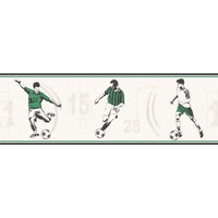Green Footballer Wallpaper Border