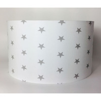 Grey Stars, Large Fabric Light Shade