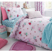 Catherine Lansfield Fairies Single Duvet Set