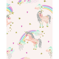 Rainbow Unicorn Wallpaper - Pink