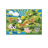 Farm Animals Rug 100 x 130 cm