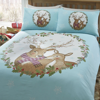 Mr and Mrs Stag Single Bedding