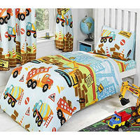 Under Construction Toddler / Junior Bedding Bundle 4.5 Tog 120 x 150