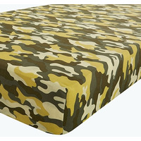 Catherine Lansfield Camouflage Double Fitted Sheet
