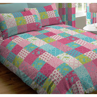 Jessica, Pink Patchwork King Size Bedding