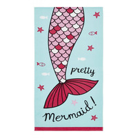Catherine Lansfield Mermaid Beach Towel Blue - 76 x 160 cm