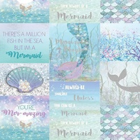 Magical Mermaid, Glitter Wallpaper