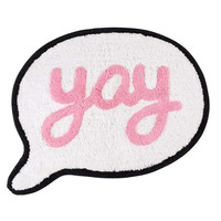 Yay, Speech Bubble Shaped Floor Rug - 50 x 61 cm