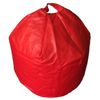 Red, Faux Leather Bean Bag