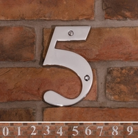 Chrome house numbers 1 to 9 - 15cm