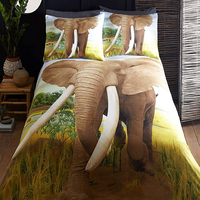African Elephant Single Bedding