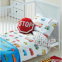 Transport Toddler Bedding - White