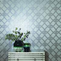 Gianni, Foil Wallpaper - Silver
