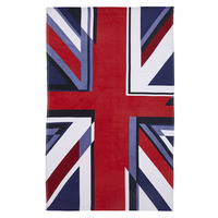 Catherine Lansfield Union Jack Beach Towel Multi - 76 x 160 cm
