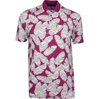 Ted Baker Golf Shirt - Peacan Print Polo - Pink SS19