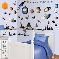 Space Adventure Wall Sticker Kit