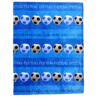 Blue, Football Fleece Blanket