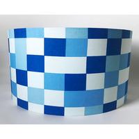 Minecraft Pixels Blue Large Fabric Light Shade