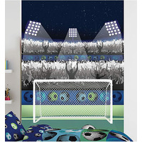 Catherine Lansfield Football Wall Mural - 158 x 232 cm