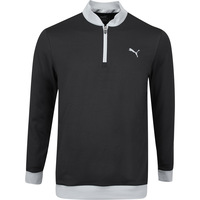 PUMA Golf Pullover - Rotation Stealth QZ - Black SS20