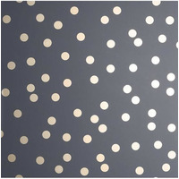 Arthouse Polka Dot, Charcoal Rose Gold Metallic Wallpaper