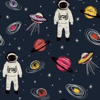 Spaceman Wallpaper - Navy