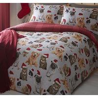 Festive Animals King Size Bedding