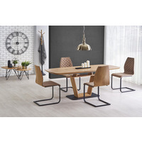 Adam Golden Oak Extending Dining Table 160cm-220cm