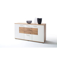 Nizima 165cm Oak And White 3 Door Sideboard