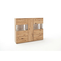 Santolina 150cm Oak 3 Door Highboard With LED