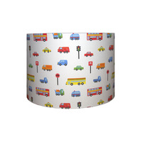 Kids Transport Large Fabric Light Shade