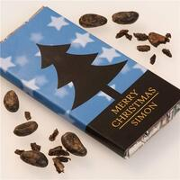 Personalised Christmas Chocolate Bar - Tree