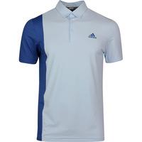 adidas Golf Shirt - Ultimate Blocked Print Polo - Sky Tint SS20