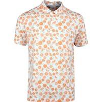 PUMA Golf Shirt - Slices Polo - Florida Orange Print SS20