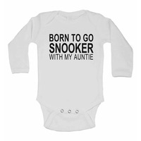 Born to Go Snooker with My Auntie - Long Sleeve Baby Vests for Boys...