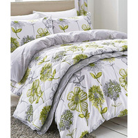 Catherine Lansfield Banbury Floral Duvet Green - Double