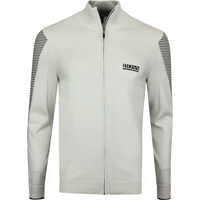 BOSS Golf Jumper - Zowit FZ - Silver Birch PF20