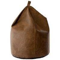 Super Soft Faux Aged Leather Bean Bag - Brown