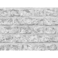 Arthouse Realistic Brick Wallpaper, Rustic Grey