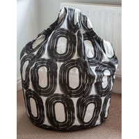 Black and White Circles Bean Bag