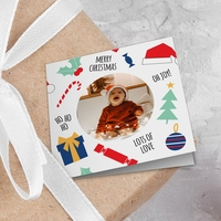 Christmas Theme Photo Gift Tags - Pack of 8