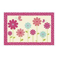 Pink Flower Mat 60 x 90 cm