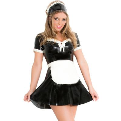 Latex Rubber Maid'S Dress