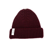 Bobbl Knitted Hat - Maroon