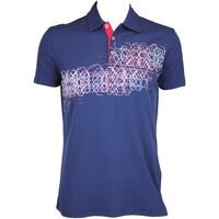 Galvin Green Mel Golf Shirt Midnight Blue AW15