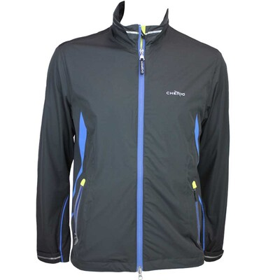 Cherv242 Meteora Aqua Block Waterproof Golf Jacket Black AW15