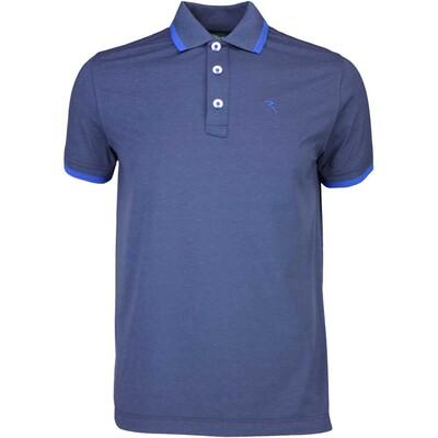 Cherv242 Golf Shirt ASPETTO Navy Melange SS16
