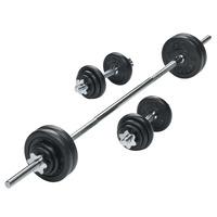 york-50kg-black-cast-iron-barbell-dumbbell-set