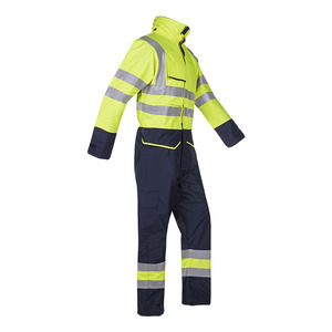 Carret Fr Ast High Vis Yellow Thermal Overalls